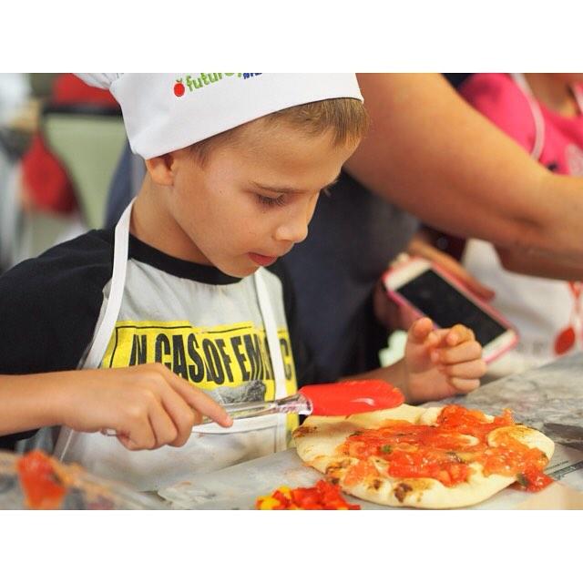Time to assemble the pizzas! futurefoodies spoonsacrossamerica fergusonkitchenandbath culinarykids foodeducationhellip