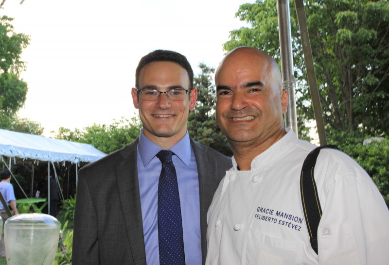 Spoons Board President Jeff Bank and Gracie Mansion Executive Chef, Feliberto Estevez