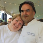 Spoons Board Member Lynda Dias with Chef Filli