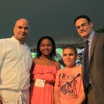 PS 132 speech makers with Board President Jeff Bank and Chef Filli