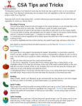 CSA Tips & Tricks